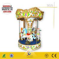 Rotary horse amusement park equipment kiddie rides arcade game machine for sale WD-A17