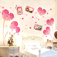 Wall decal photo frame heart shap flower sticker for room decoration Item WSIS-56 in stock
