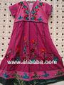 impreso de algodón kurtis cambrics vestido hasta la rodilla indio étnico vestido de estilo