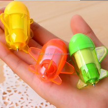 New arrival Creative stationery mini candy color planes ballpoint pen, Cartoon telescopic pen