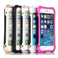 Waistline Weatherproof Hard Shell Aluminum Metal Case with Gorilla Glass for iPhone 6 and for iPhone 6 plus