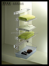 Wall mounted laundry rack system for wardrobe