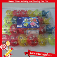 Funny Plastic Pull Rotate Spinning Top Toy Candy