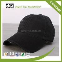 Baseball hat visor material 100% cotton baseball hat