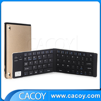 Mini folding wireless Bluetooth keyboard for pc laptop/iPad/iPhone/Android