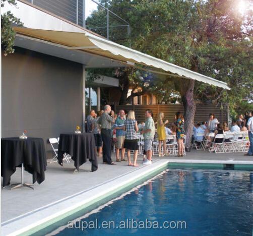 Rétractable auvent Patio jardin piscine soleil ombre de pluie ...