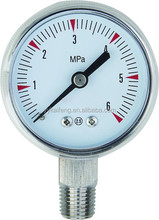 Liquid-Filled with Stainless Steel Case Bourdon Tube Pressure Gauge