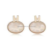 Fake designer earring new crystal gold finish