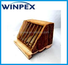 Tree bark Wooden rabbit house, Rabbit play hosue