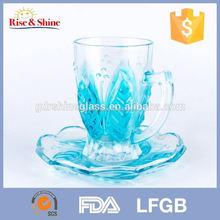 cam çay bardak ve saucer toptan daha popüler toptan plastik çay bardak ve tabaklar toplu