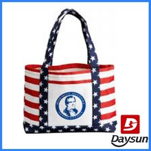 Printed Stars and Stripes Tote Bag Wholesale Reusable Shopping Bags