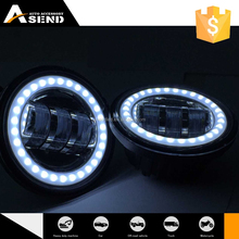 Halo ring 30W 4.5 Inch LED Fog light Offroad Waterproof Motorcycle with angle eyes super lamp fog lighting