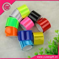 High quality promotional gifts custom printing pvc wristband, slap bracelet, reflective handband