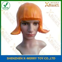 horse ride dancer gadgets nice cosplay props Latex rubber wig flash