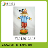 harvest scarecrow for garden decorations