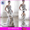CE374 New Designs Very Sexy Low Back Black Lace And White Tulle Wedding Dress Designers