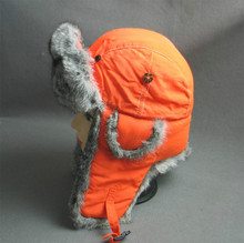 fake fur earflap snow hat