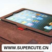 2015 gift for iPad mini Genuine Leather Book Case