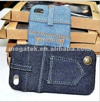 phone case Demin jeans pc hard cover case for iphone 4 4s, for iphone 4 case pc ,for iphone case 4s 5s 6