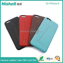 For Iphone 6 genuine leather phone Case for IPhone 6 plus Flip back Case