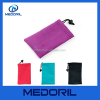 China supplier custom microfiber fabric mobile phone pouch