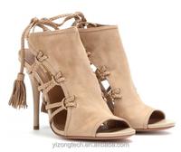 JUSITY 2015 Elegant Brown Suede rope sandals