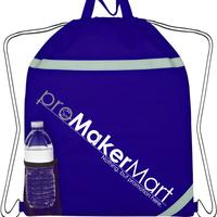 Reflective Drawstring Bag, Customized Outdoor Sports Must-have Non woven Reflective Drawstring Bags with Logo, PromoMakerMart