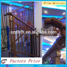 Barandilla de escalera, escalera de metal industrial, escalera de hierro fundido