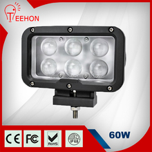 Teehon Factory Wholesale 4D Lens Spot Beam Rectangle 60 Watt Led Working Light for Tractor