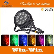 Mega led outdoor light 9x12w 5in1 waterproof DMX outdoor rgbwa led par 64