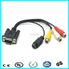 10 meters vga to rca av converter cable