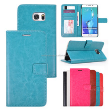 Classic Soft PU Leather Cover Case For Samsung Galaxy S6 Edge Plus Mobile Phone Case