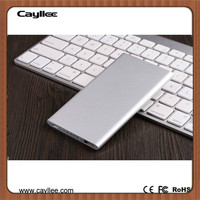 Cayllee Slim Aluminium Euro Power Bank 5000 mah Portable Charger for Mobile