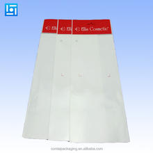 Wholesale clear opp header bag with hanging header flat bag with cardboard insert