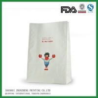 food grade white kraft paper bag for food
