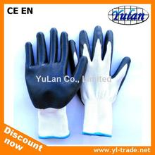 cheap 13 gauge polyester Nitrile palm coated Work glove