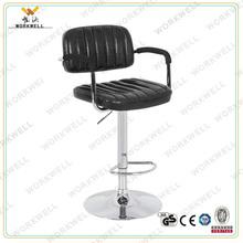 Workwell KW-B2162a populaire en cuir haute bar chaise avec accoudoir