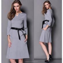 High quality peplum dress new design casual woman dress, career dress