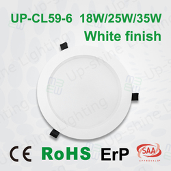 SAA/TUV certificated triac dimmable LED downlight 15W-70W recessed recessed led downlight 90 led lux down light
