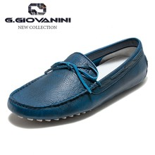 Collar leather of goat and kidskins mens Peacock leather loafer shoes