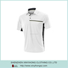 Classical Design Dri Fit Spandex Pocketed Polo Shirts For Man In White