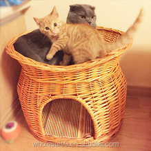 2015 New Pet Products wicker craft natural pet bed cheap cat houses, dog houses