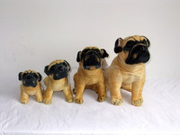 sitting pug stuffed dog toys