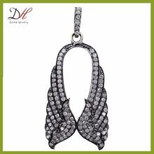 PD2223 micro pave jewelry fashion angel wings pendant diamond