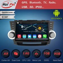 1024*600 pixel 10.1 inch car dvd vcd cd mp3 mp4 player for highlander 3g wifi bt obd