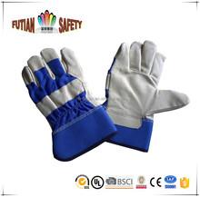 """Ftsafety 10 """" AB vache grain gants de travail acheteur pleine paume en cuir bleu retour peau de porc gants"""