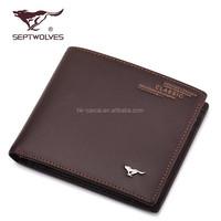 2015 hot sale wallet men leather multipurse wallet for men