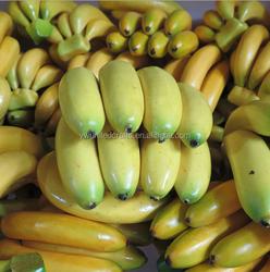 artificial fruit banana Simulation plastic banana / Resin fruits factory / Fake food