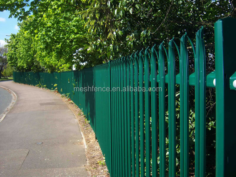 Top quality hot dipped galvanized steel palisade fence/fencing for sale