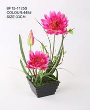 Real touch pequeña flor artificial flores artificiales de loto flor de loto artificial